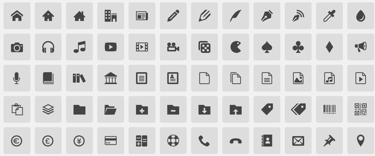 Icon Font以文字形式取代圖片的圖標字型
